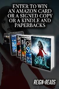 WIN: Signed Copies, a $15 Amazon Gift Card or a Kindle Fire