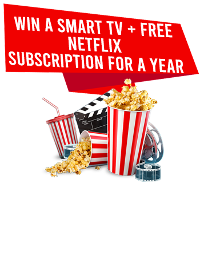 Win Smart TV + Free Netflix Subscribtion For a Year