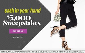 WIN: the $5,000 Cash In Your Hand Sweepstakes