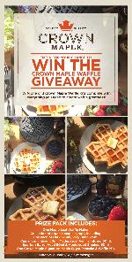 WIN the Crown Maple Waffle Giveaway!