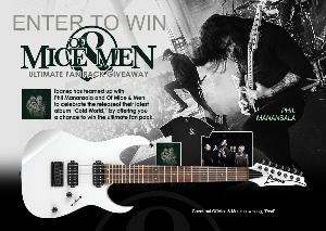 Win The ultimate fan pack includes an autographed Cold World CD, Ibanez 7-string guitar and more