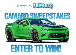 WIN THE ZOMONGO EVENTS CAMARO!