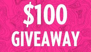 Win this $100 USD via PayPal or gift card giveaway!