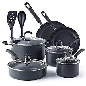 Win this 12-Piece Non-stick Anodized Cookware Set