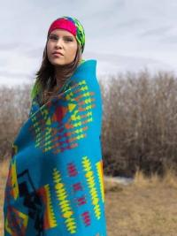 Win this gorgeous Turquoise Boy Chief Trading Company Blanket!