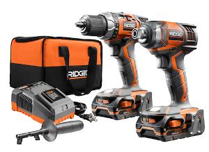 Win this RIDGID Cordless Drill and Impact Driver Combo Kit