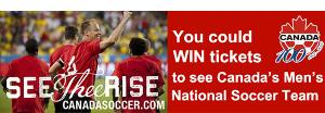 win tickets to canada's mens scoccer team game