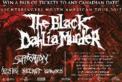 Win tickets to see The Black Dahlia Murder, Suffocation, Decrepit Birth and more