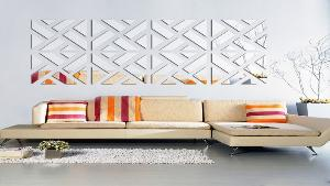 WIN: two of the Mirrored Chevron Print Wall Decoration