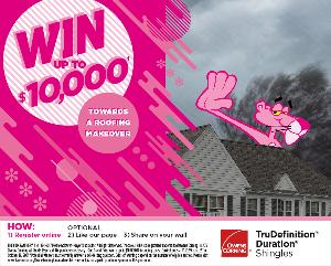 Win up to $10,000 Towards a Roofing Makeover!
