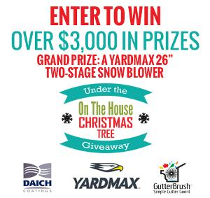 WIN: YARDMAX Two-Stage Snow Blower and More