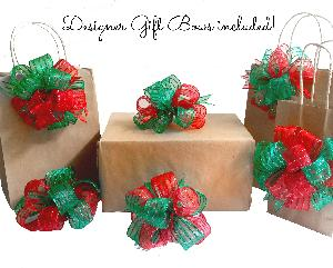 win your choice of 2 designer decor holiday bows
