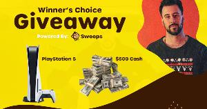Win Your Choice of a PlayStation 5 or $500 Cash!!