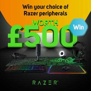 Win YOUR CHOICE of RAZER peripherals worth up to £500!