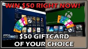 Win yourself a $50 giftcard of your choice!