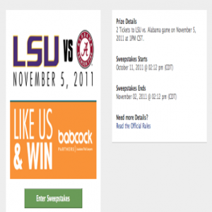 Contest: Win LSU Ticket Sweepstakes