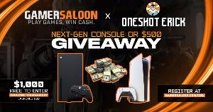 Winner's choice of prizes! You can choose between a PlayStation 5;  Xbox Series X or $500!!