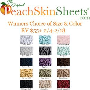 Winners Choice of Size and Color PeachSkinSheets