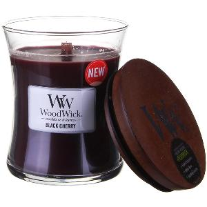 WoodWick Black Cherry medium jar candle Giveaway!