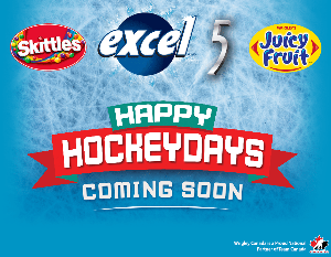 "Wrigleys ""Happy Hockeydays  - pics of skittles, excel"