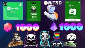 You can win : 2x - Spotify premium 6 Months (2 Winners) ; 1x - Xbox Game Pass ULTIMATE 1 Month ; 1x - Xbox $10 Gift Card ; 1x - Discord Nitro 3 Months + more!!