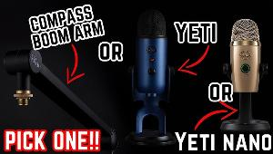 YOU COULD WIN YOUR CHOICE OF A YETI MICROPHONE OR A YETI NANO MICROPHONE OR THE COMPASS BOOM ARM!