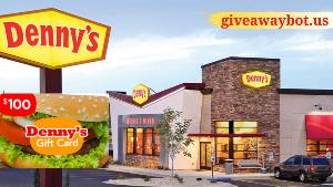 Your Chance To Get A Denny's $100 Gift Card!